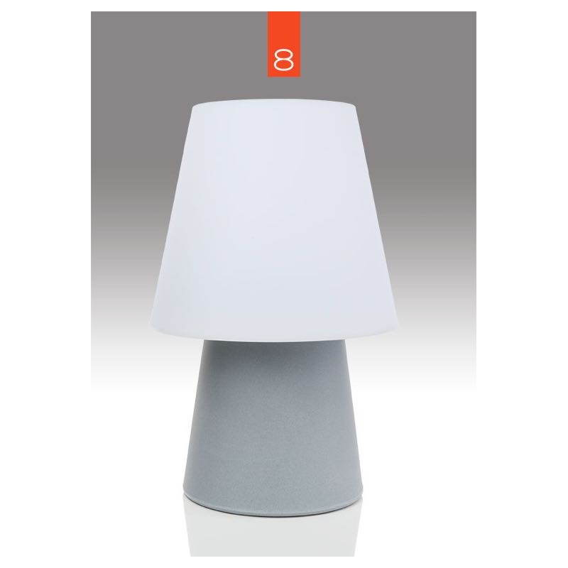 Light table lamp mima indoor outdoor grey h 60 cm for Table exterieur largeur 60 cm