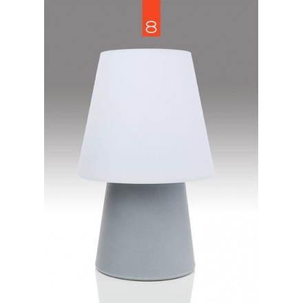 Lampe de table lumineuse MIMA intérieur extérieur (gris, LED multicolore, H 60 cm)