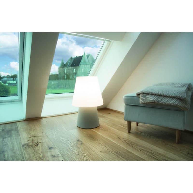 Lámpara de mesa de luz MIMA interior LED al aire libre (gris, multicolor, H 60 cm) - image 24915