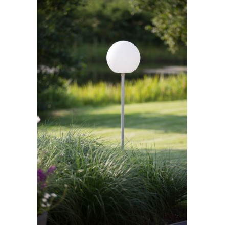 Light fixture on foot outside domestic ball (white, multicolor LED)