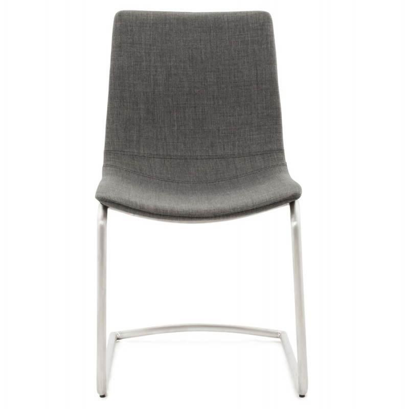 Chaise design et moderne RIMINI en textile (gris) - image 24974