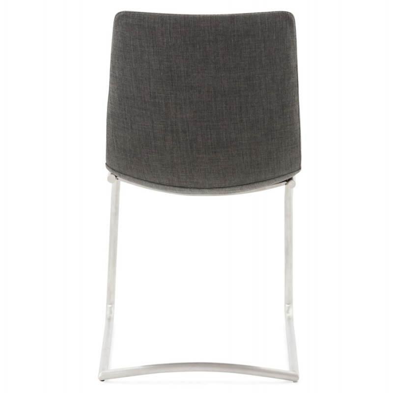 Chaise design et moderne RIMINI en textile (gris) - image 24977