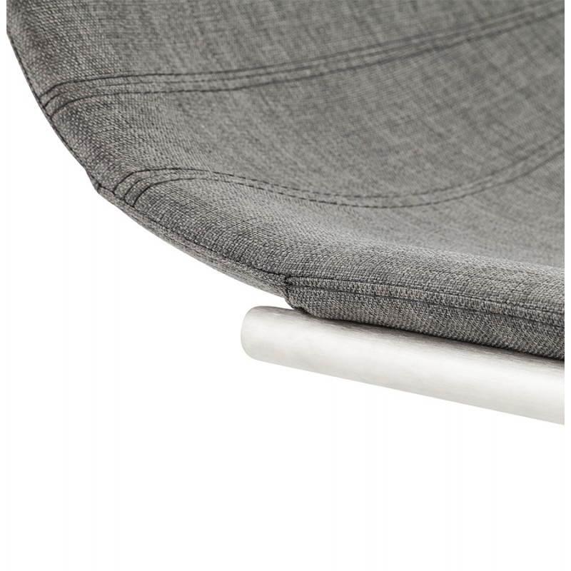 Chaise design et moderne RIMINI en textile (gris) - image 24980