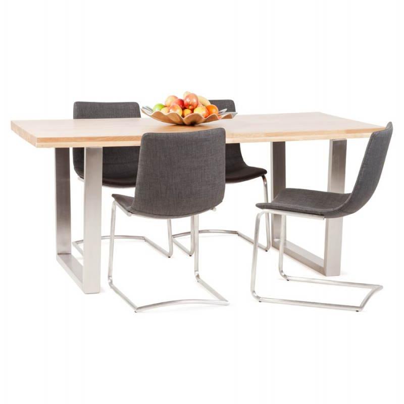 Chaise design et moderne RIMINI en textile (gris) - image 24986