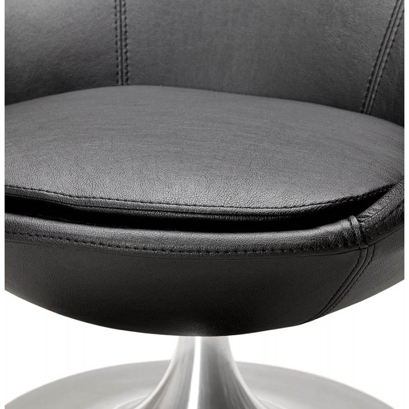 Design rotating armchair with 360 ° ROMANE (black) - image 25021