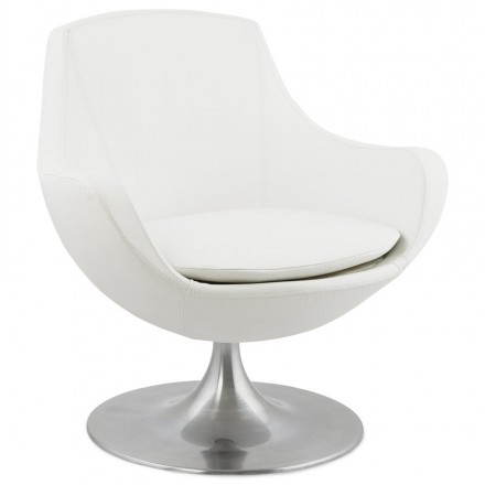 Design rotating armchair with 360 ° ROMANE (white)