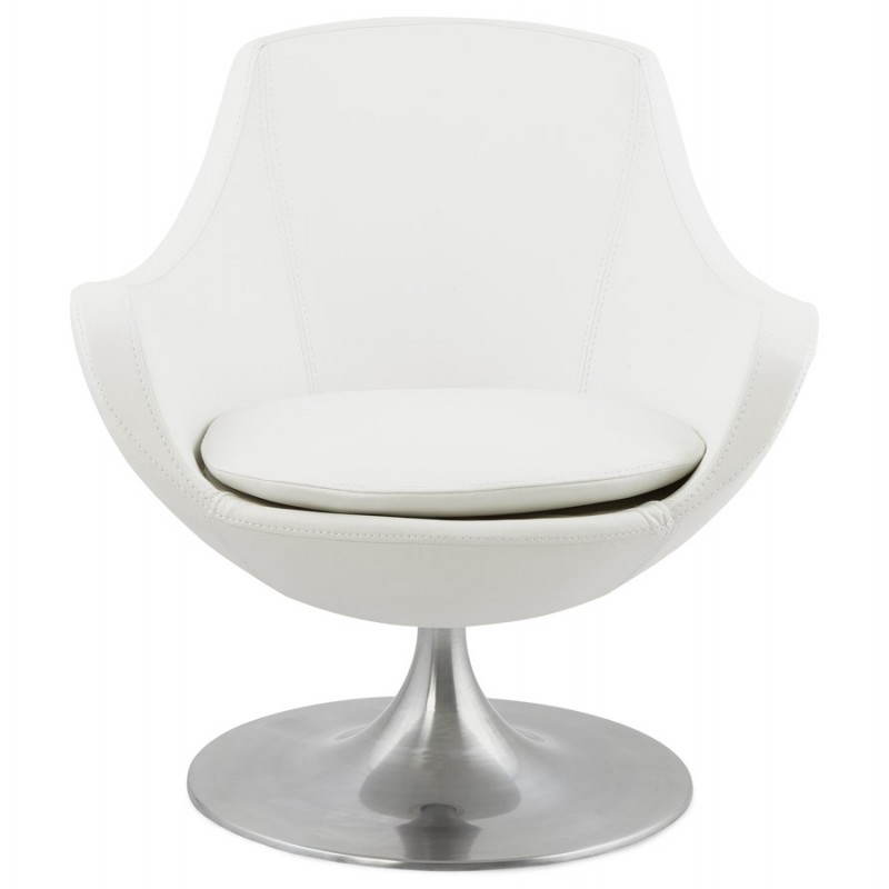 Design rotating armchair with 360 ° ROMANE (white) - image 25026