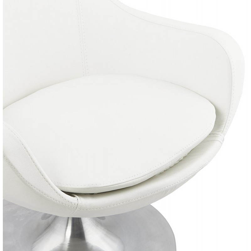 Design rotating armchair with 360 ° ROMANE (white) - image 25032