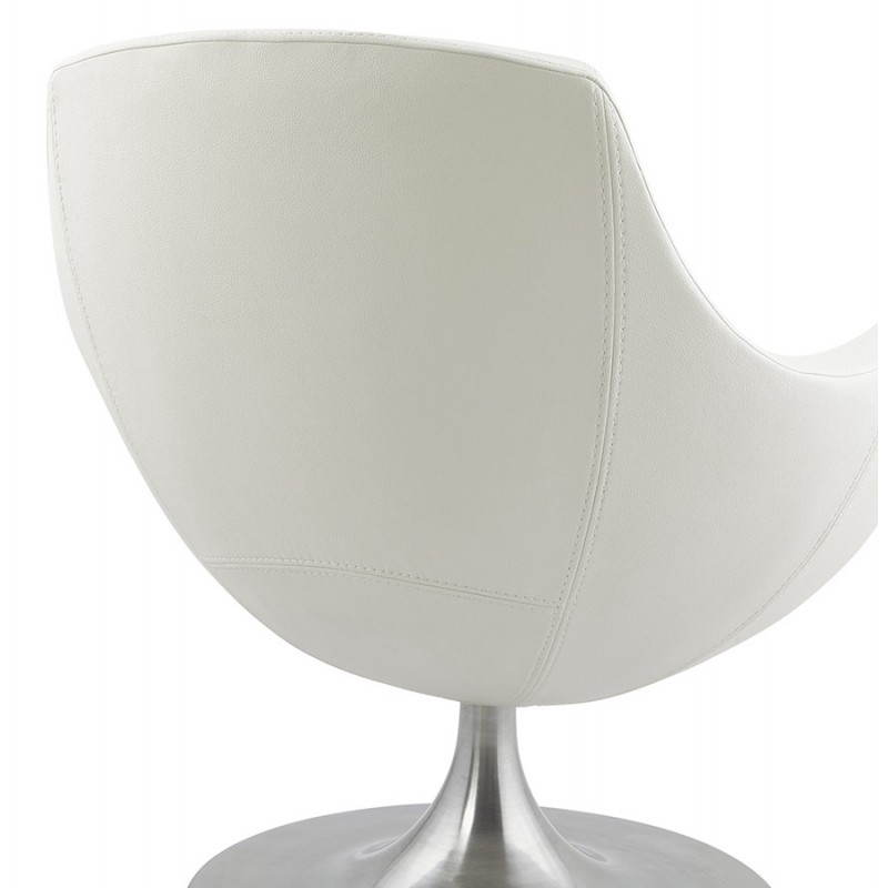 Design rotating armchair with 360 ° ROMANE (white) - image 25034