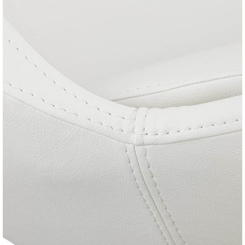 Design rotating armchair with 360 ° ROMANE (white) - image 25035