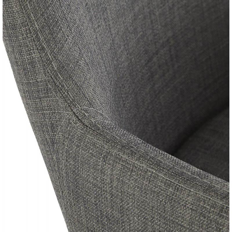 Fauteuil de style scandinave design BARBARA en tissu (gris foncé) - image 25046