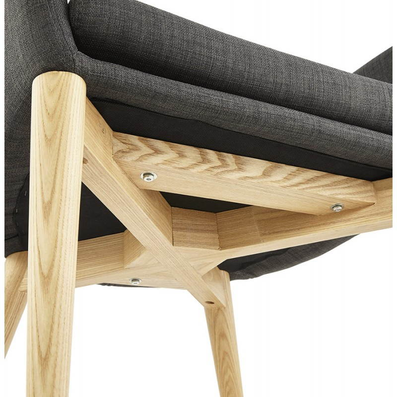 Fauteuil de style scandinave design BARBARA en tissu (gris foncé) - image 25048