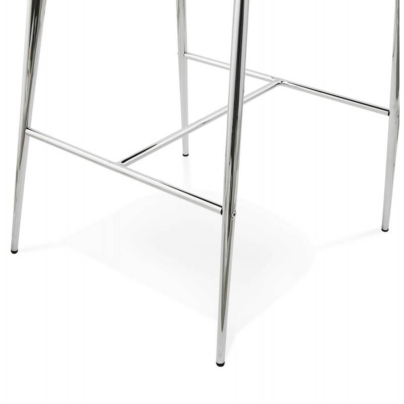 Tabouret mi hauteur design LINDA en tissu (gris) - image 25063