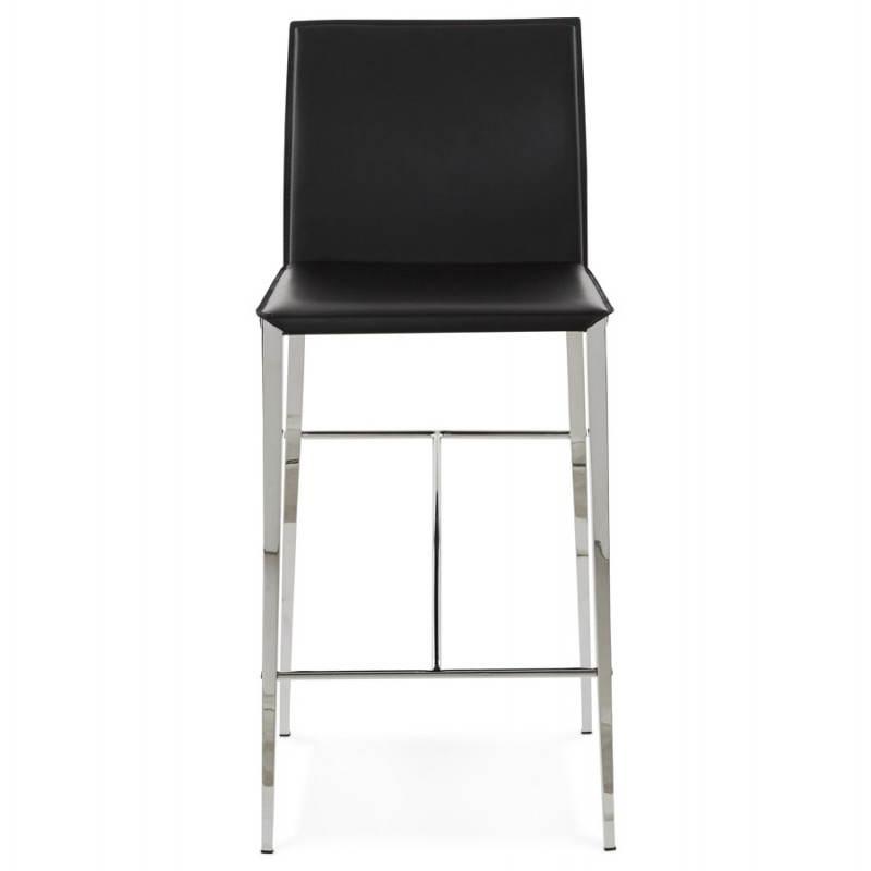 Tabouret mi hauteur design et contemporain NADIA (noir) - image 25068