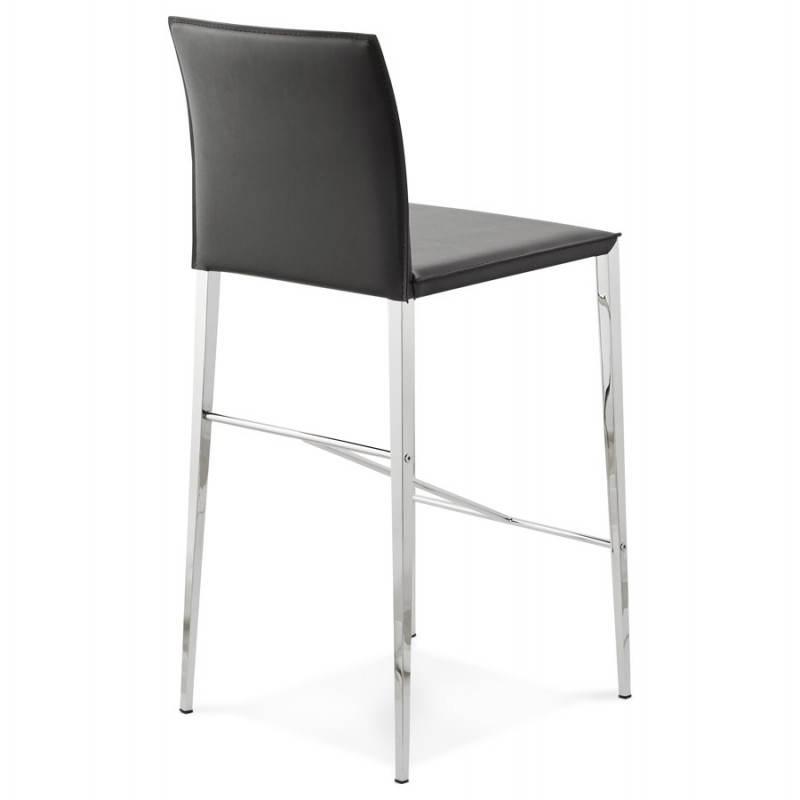 Tabouret mi hauteur design et contemporain NADIA (noir) - image 25070