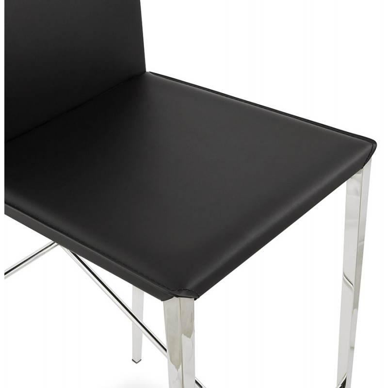 Tabouret mi hauteur design et contemporain NADIA (noir) - image 25072