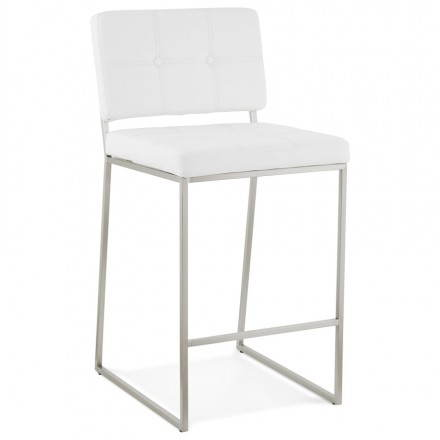 Stool retro design mi-height DADY (white)