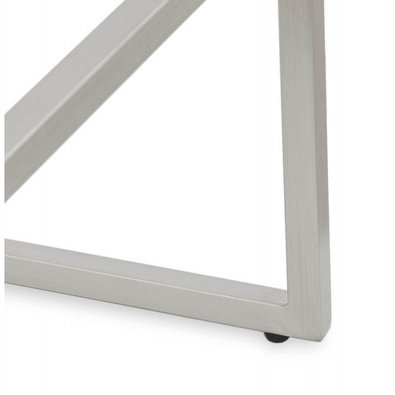 Tabouret mi hauteur design rétro DADY (blanc) - image 25091