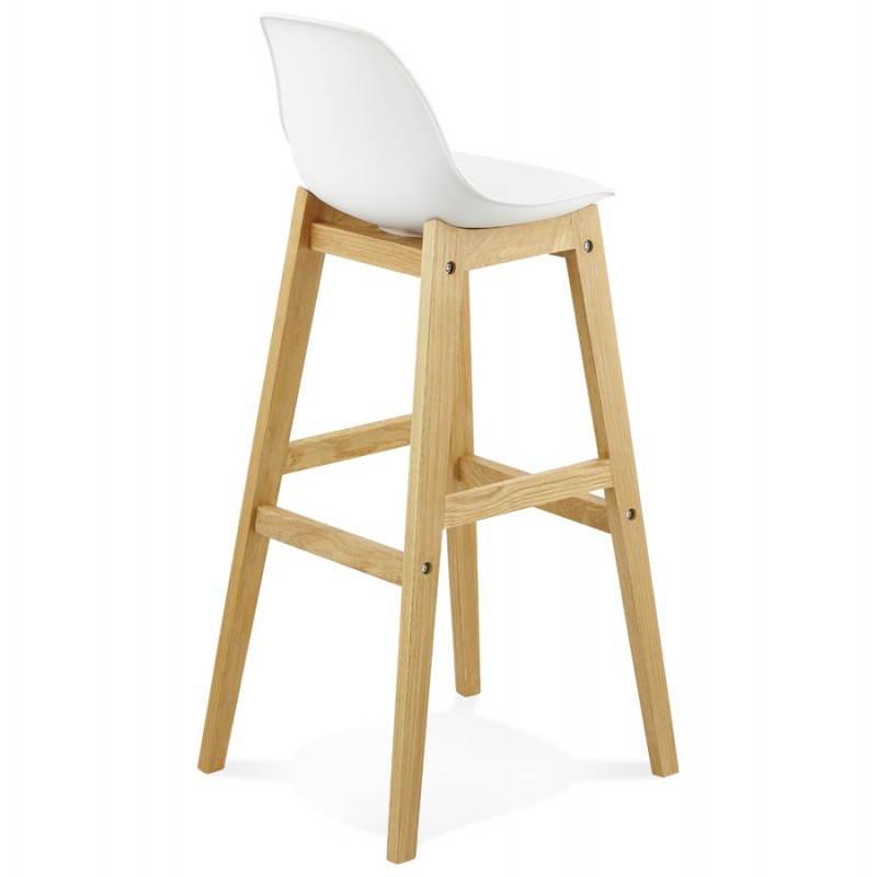 Tabouret de bar chaise de bar design scandinave FLORENCE (blanc) - image 25146