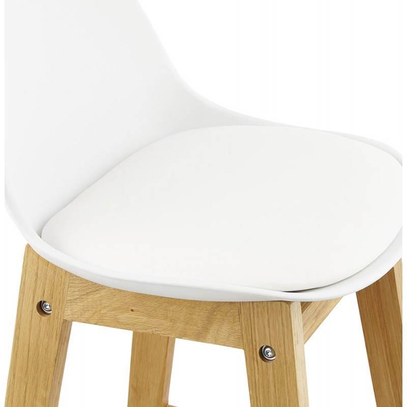 Tabouret de bar chaise de bar design scandinave FLORENCE (blanc) - image 25150