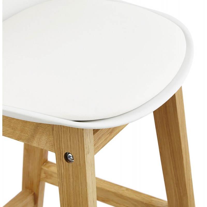 Tabouret de bar chaise de bar design scandinave florence - Tabouret de bar scandinave blanc ...