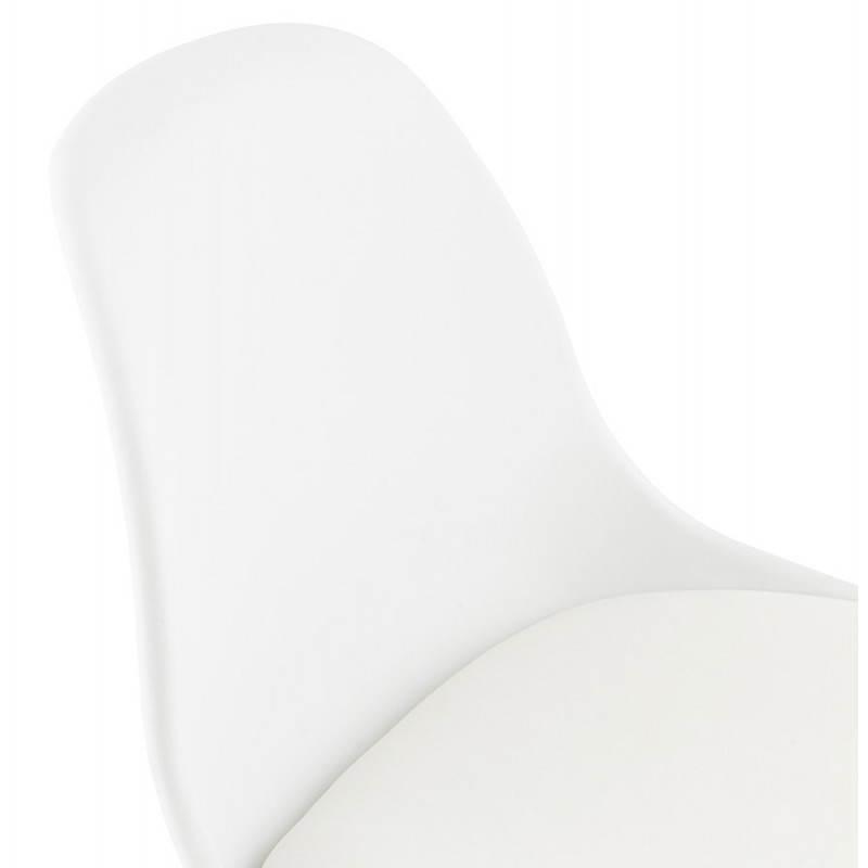 Tabouret de bar chaise de bar design scandinave FLORENCE (blanc) - image 25154