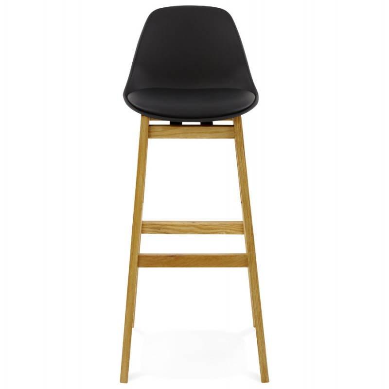 Tabouret de bar chaise de bar design scandinave FLORENCE (noir) - image 25166