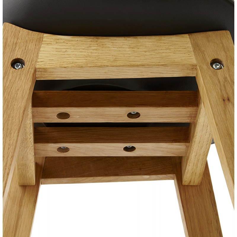 Tabouret de bar chaise de bar design scandinave FLORENCE (noir) - image 25180