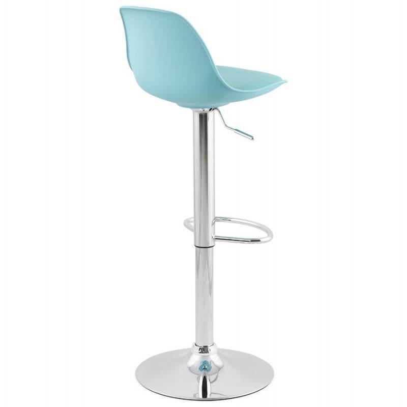 tabouret de bar design et compact robin bleu. Black Bedroom Furniture Sets. Home Design Ideas