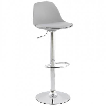 Design bar stool and compact ROBIN (grey)