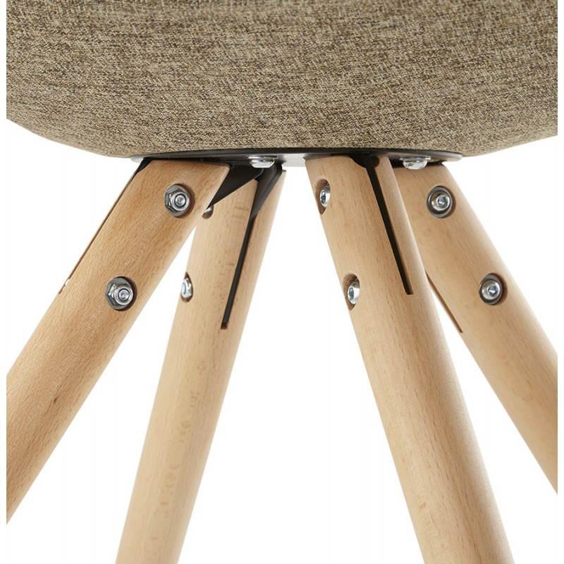 Chair patchwork style Scandinavian BOHEMIAN fabric (blue, grey, beige) - image 25365