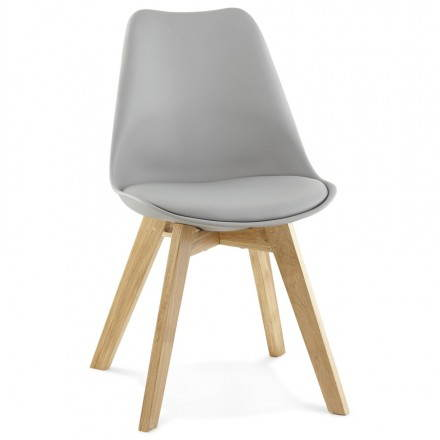 Modern Chair style Scandinavian SIRENE (grey)