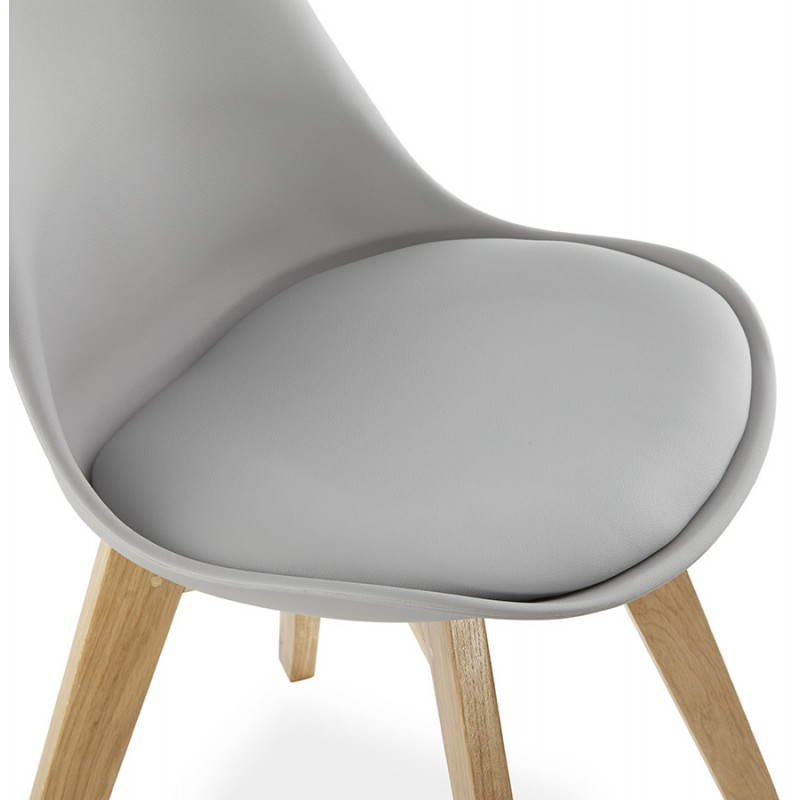 Chaise moderne style scandinave SIRENE (gris) - image 25375