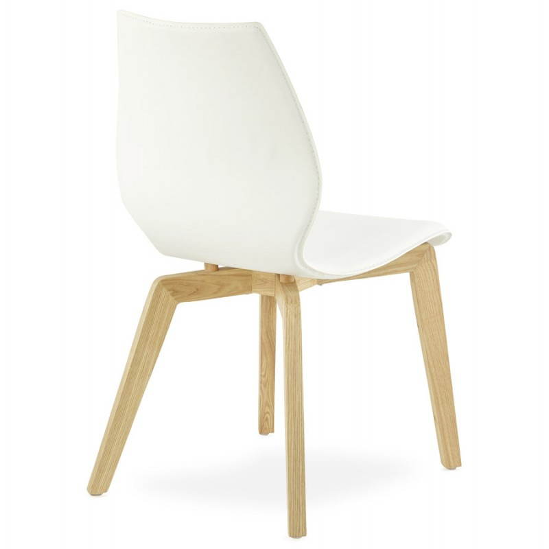 Chaise vintage style scandinave MARTY (blanc) - image 25385