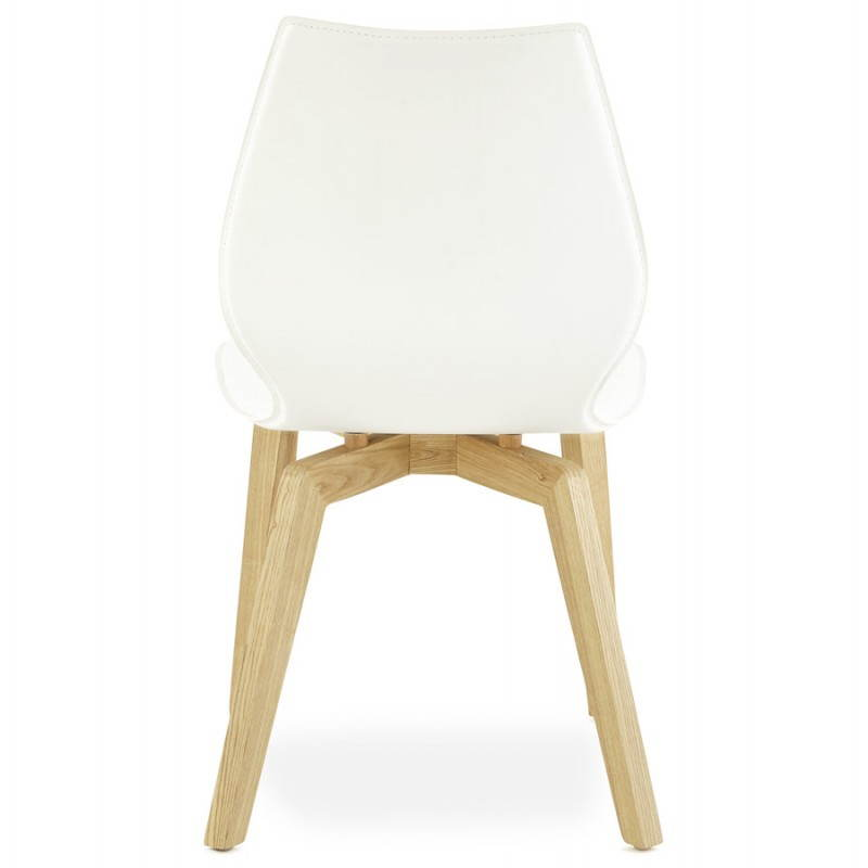 Chaise vintage style scandinave MARTY (blanc) - image 25386