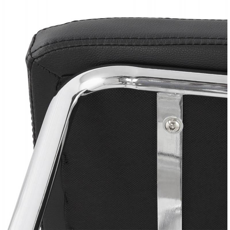 Chaise design capitonnée BONOU en polyuréthane (noir) - image 25406