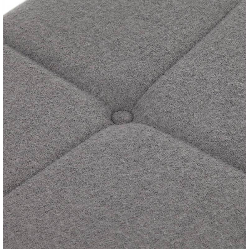 Chaise design capitonnée BONOU en tissu (gris clair) - image 25416