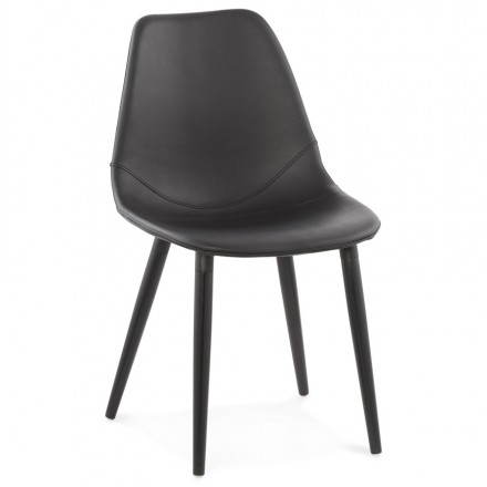 Contemporary design chair LOLA (black)