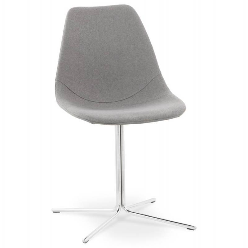 Chaise design contemporaine OFEN en tissu (gris)