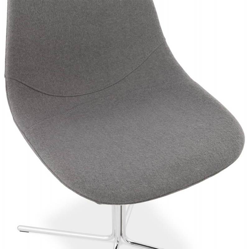 Silla de diseño contemporáneo OFEN en tela (gris) - image 25459