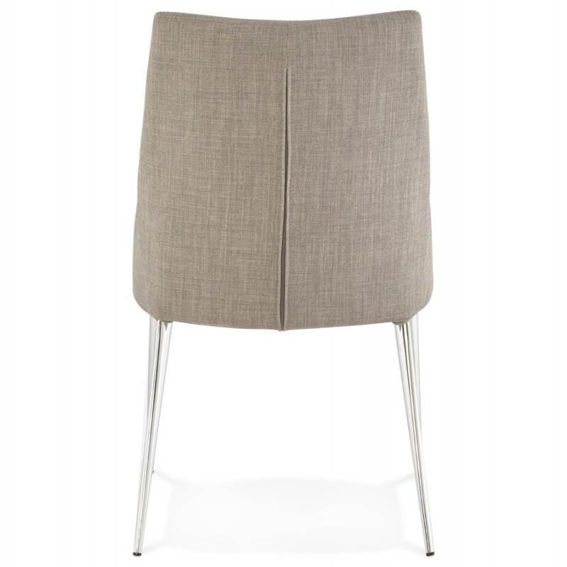Chaise design rétro VALOU en tissu (gris) - image 25471