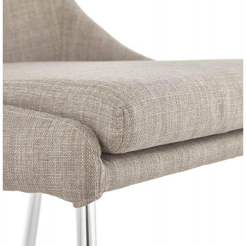 Chaise design rétro VALOU en tissu (gris) - image 25474