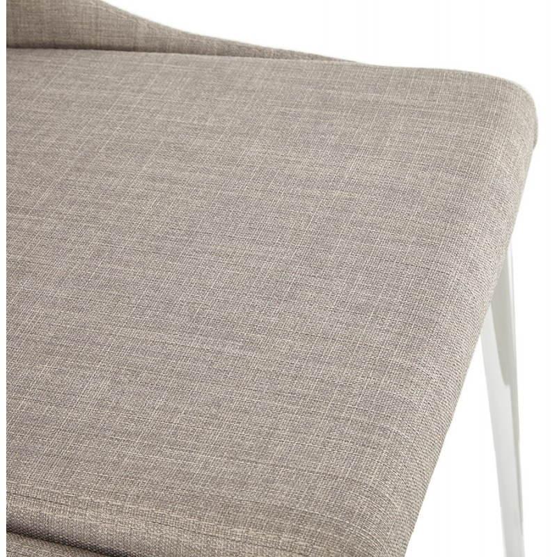 Chaise design rétro VALOU en tissu (gris) - image 25475