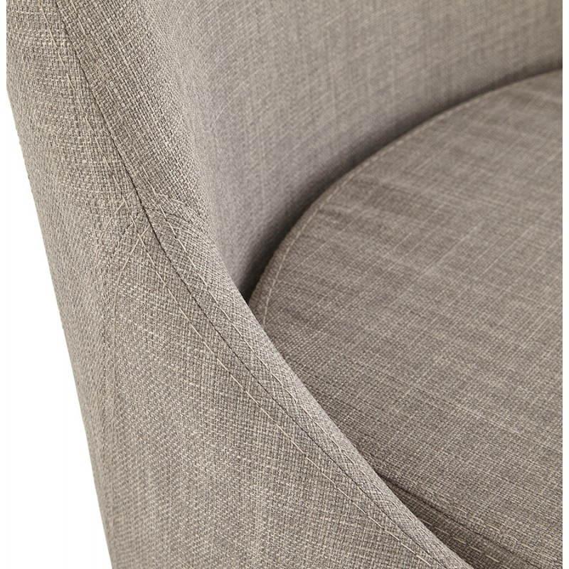 grau stoff retro design stuhl vaidya. Black Bedroom Furniture Sets. Home Design Ideas