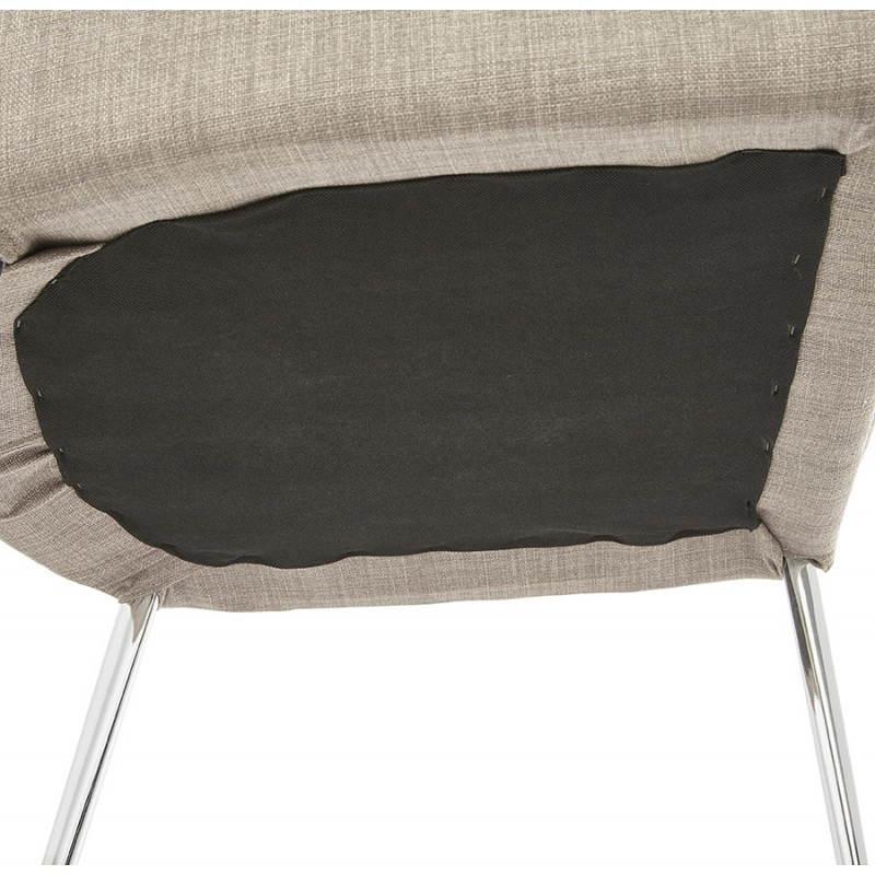 Chaise design rétro VALOU en tissu (gris) - image 25478