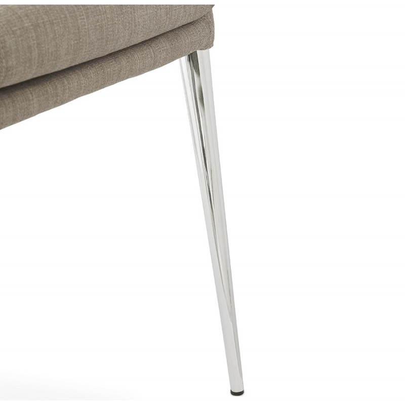 Chaise design rétro VALOU en tissu (gris) - image 25479