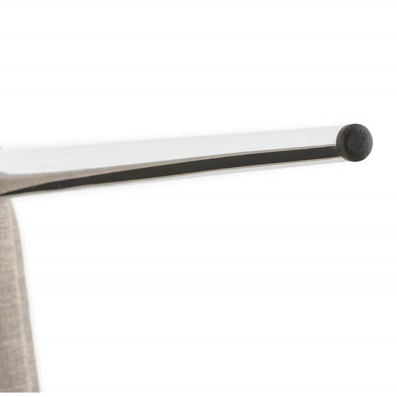 Chaise design rétro VALOU en tissu (gris) - image 25480