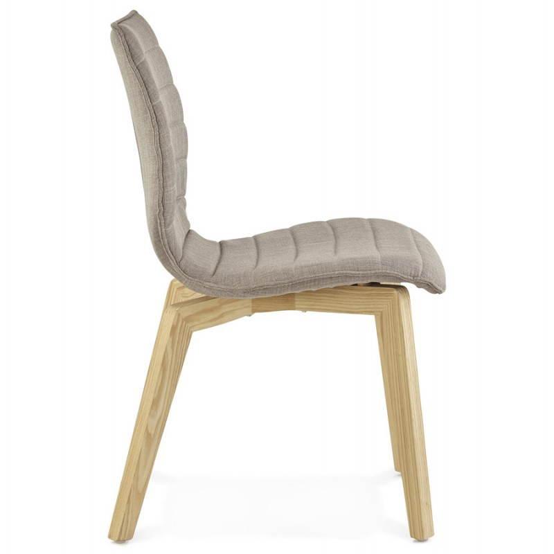 Chaise vintage style scandinave marty en tissu gris Chaise en tissu gris