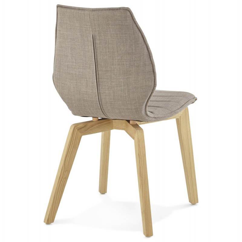 stuhl vintage stil skandinavischen marty stoff grau. Black Bedroom Furniture Sets. Home Design Ideas