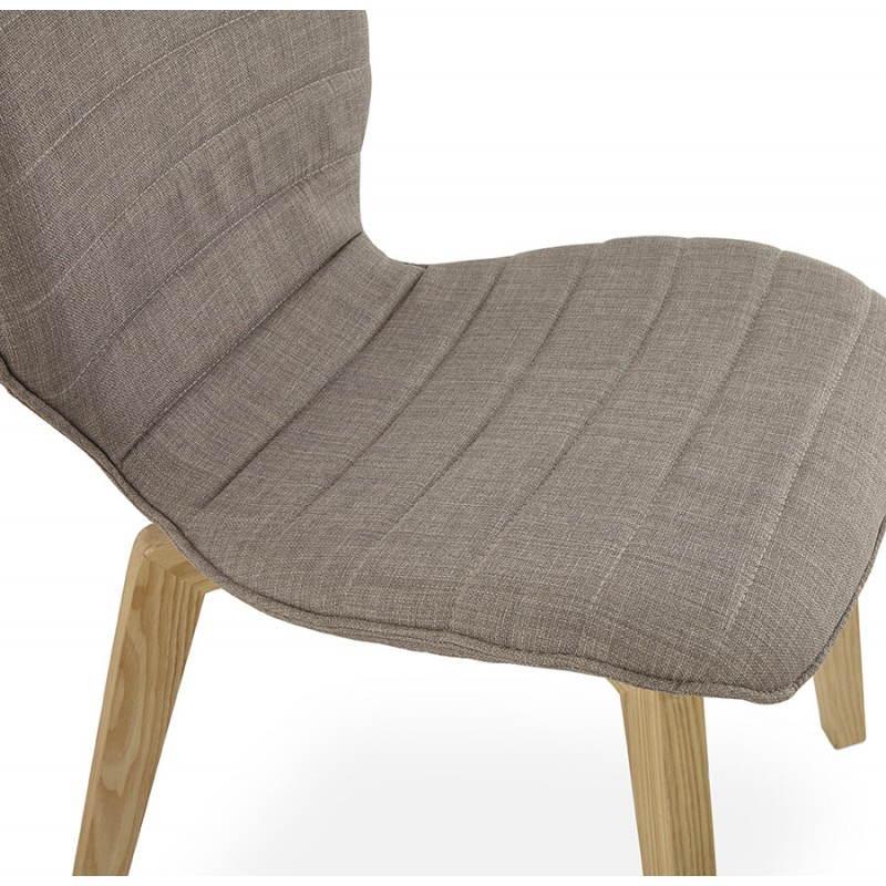 chaise vintage style scandinave marty en tissu gris. Black Bedroom Furniture Sets. Home Design Ideas